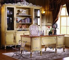 OE-FASHION Antique style excutive ergonomic luxury yellow office desk with chair, View luxury home office desk, OE-FASHION Product Details from Foshan Oe-Fashion Furniture Co., Ltd. on Alibaba.com #ergonomicofficechairs