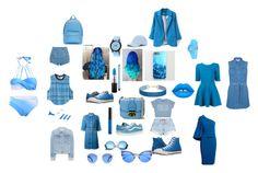 """I LOVE THA BLUEE"" by fabileal on Polyvore featuring moda, Sole Society, PB 0110, Miss Selfridge, MAC Cosmetics, Vans, Revo, adidas, Roland Mouret y shu uemura"