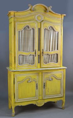 French Provincial Style Painted Cabinet