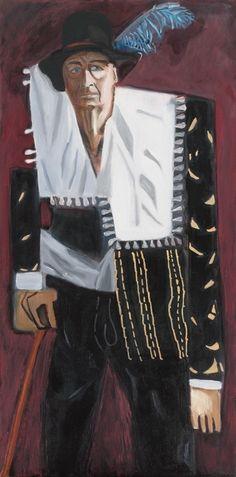 Francis Baratte en bourgeois hollandais Huile sur toile - Tableau de l'artiste peintre David Kennedy  http://david-kennedy.fr