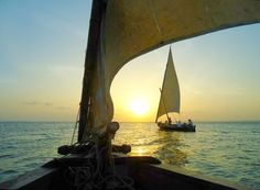 Lamu Dhows, wooden sailboats that navigate the reef around the island. Sigh-worthy