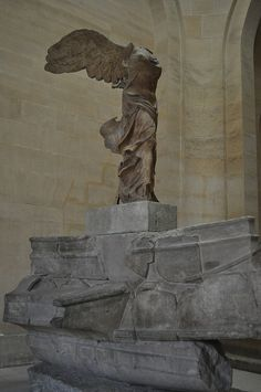 The Winged Victory of Samothrace. The first time I saw her she brought me to tears.