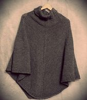 Ravelry: Hugo pattern by Gosia Grajdek - a top down seamless poncho | free pattern