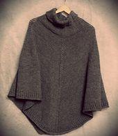 Ravelry: Hugo pattern by Gosia Grajdek - a top down seamless poncho   free pattern