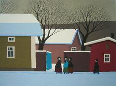 Koivikko Pentti Winter Art, Helsinki, Finland, Traditional, Painters, Drawings, Outdoor Decor, Artwork, Graphics