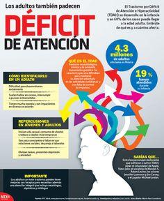 ¿Sabes cómo identificar el déficit de atención en adultos? En nuestra #Infographic te lo decimos.