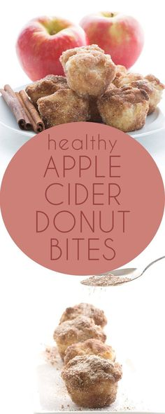 """Low Carb Apple Cider Donut Bites. Deliciously Keto LCHF THM Recipe. Dipped in butter and rolled in cinnamon """"sugar"""" for a taste like the real thing! #ketorecipes #ketodiet #lowcarb #applecider #muffins #sugarfree"""