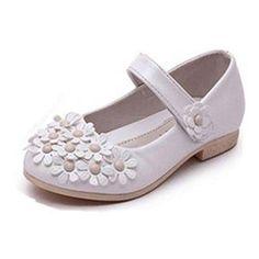 Oferta: 17.98€. Comprar Ofertas de Frbelle Merceditas Princesa Zapatos de Vestir para Niñas con Flores Tacón Bajo Fiesta Bailarina Blanco 28 barato. ¡Mira las ofertas!
