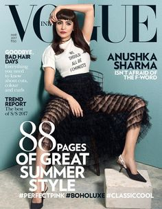 We are crushing hard on Anushka Sharma's blunt bangs and Dior ensemble as she OWNS Vogue's cover #FansnStars