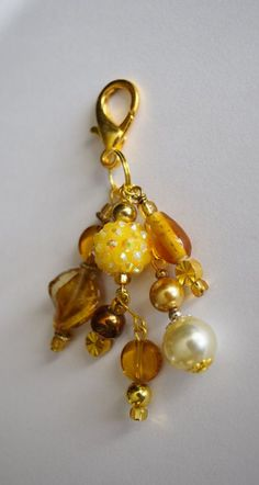 Purse Bling/Purse Charm/Zipper Pull/Bag by spidersbymary on Etsy
