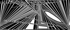 organic abstract, dynamic black and white, 8 feet wide on canvas