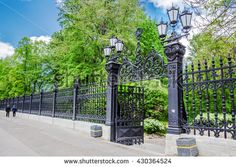 SAINT-PETERSBURG, RUSSIA - MAY 17, 2016: Wrought iron fence of the Letny…