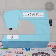Paper Pieced Sewing Machine (good for beginners) by During Quiet Time