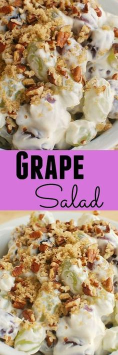 Grape Salad - this recipe is so perfect for potlucks and barbecues! The dressing is unbelievably delicious!