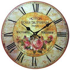 Shabby Chic Rustic Large Wall Clocks: Vintage Wall Clocks - Top-clocks.com