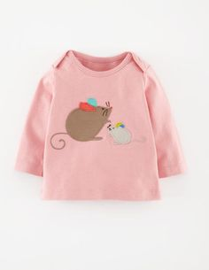 My Baby Appliqué T-shirt 71368 Graphic T-Shirts at Boden