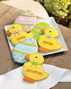 Personalized easter cookies.  A bit pricey, but oh so cute!