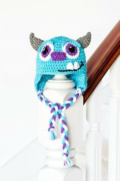 A little monster crochet hat is a fabulous gift for any baby. Monsters Inc. Sulley Inspired Baby Hat Crochet Pattern via Hopeful Honey.