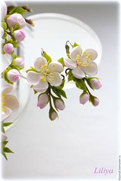"""Серьги """"Яблоневый цвет"""" – купить в интернет-магазине на Ярмарке Мастеров с доставкой"""