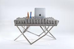 #Brazil #brazilian designer #side table  #knitting #handmade #home #interior design Buy it on www.hobosociety.com Follow us on www.facebook.com/hobosociety