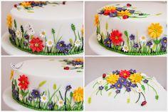 ... zumindest ist er auf meiner Torte angekommen ;-)   Na wenn diese Torte keine Lust auf Frühling, Blumen und Sonnenschein bringt.  Mich ha...