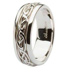This gorgeous Silver Celtic Knot Wedding Ring is the perfect match for any Celtic lady?s ring. The excellent sterling silver band is embroidered with the classic knot work design, a historic symbol of love in Celtic culture. The thick diameter of this ring is perfect for the gents, as it will fit more comfortably on larger hands. Everlasting LoveThe original knot design in Celtic art is called the trinity knot. The modern take on that knot work is seen here in this gent?s wedding ring. The…