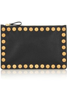 Valentino Embellished leather pouch  | NET-A-PORTER