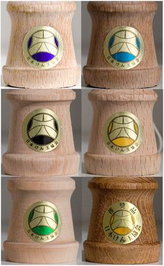 """JKA Competition Certified Seal of Approval: Dark Blue = Shin-Sakura, Light Blue = Mugen, Black = Shin-Fuji, Yellow = Ozora, Green = TK16, Yellow (with Letters on Top) = Ozora - JKA """"Recommended Product"""", Not for Competition Use (Modified Paint)"""