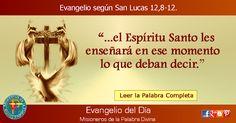 MISIONEROS DE LA PALABRA DIVINA: EVANGELIO - SAN LUCAS 12,8-12