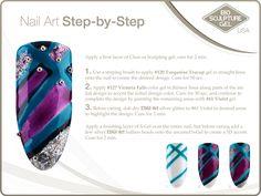 Stripes step-by-step Bio Gel Nails, 3d Nails, Bio Sculpture Gel Nails, Sculpting Gel, Nail Art Galleries, Evo, Creative Inspiration, Art Tutorials, Nail Art Designs
