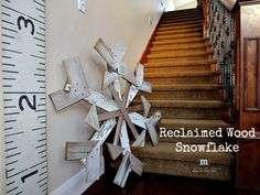 Reclaimed Wood Snowflake Tutorial