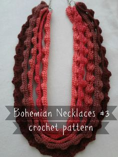 Bohemian Puff Stitch Necklace By Maya Kuzman - Purchased Crochet Pattern - (ravelry)