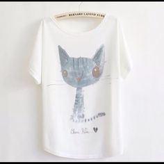 """Animal Print Tee New~Cool Cat Animal Print Tee New~Cool Cat Style- Loose Batwing Sleeve Length 25.98"""" Bust: 43""""-47"""" Soft and Comfy Fit~Fabric: 65%Cotton, 35%Polyester Smoke FREE Home No Tradefirm unless bundle Cute Tee Tops Tees - Short Sleeve"""