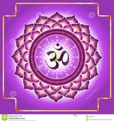 Chakra Sahasrara Ilustración del Vector - Imagen: 49629439