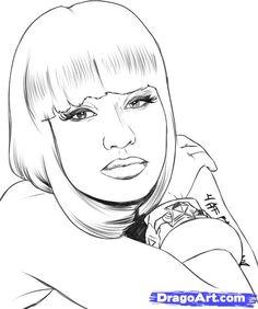 free printable Nicki Minaj online coloring page