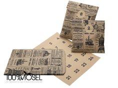 Der schlichte DIY Adventskalender für eilige Bastler:  24 runde Kraftpapiersticker mit den Zahlen 1-24 schwarz auf braun 24 Kraftpapiertüten braun mit schwarzem Zeitungsdruck, ca. 16 x 24 cm...