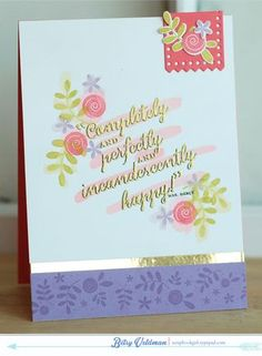 Completely Happy by Betsy Veldman for Papertrey Ink (December 2013)