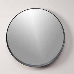 """Free Shipping.  Shop crescent 32. 5"""" round wall mirror.   Oversized looking glass reflects the ebb and flow of the lunar stages."""