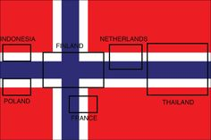 It's apparently accidental, but Norway's flag contains six other nations' flags.