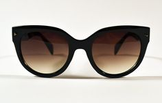 Vintage Black Cat Eye Oversized Sunglasses by saltwatergypsy, $28.00
