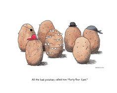 Fun Potato ArtBaked PotatoesCooking by DrawnFromMyBrain on Etsy