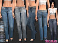 Female skinny jeans by sims2fanbg at TSR via Sims 4 Updates