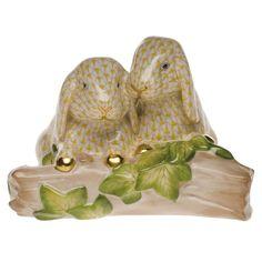 Herend Bunny Love - Butterscotch Fishnet