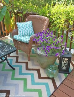 DIY:: AMAZING POST ! How to Create an Outdoor Room on a Budget ! Thorough Step by Step Tutorial ! Including Decor Tips & Beautiful Easy to make Decor Tutorials ! by Kim at www.sandandsisal.com