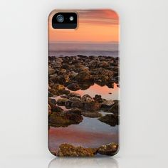 Red sunset at the Mediterranean sea iPhone & iPod Case by Guido Montañés - $35.00