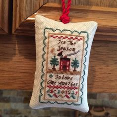Tis the Season to Love One Another Christmas Cross Stitch