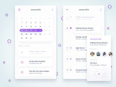 Concept dribbble shot calendar attachment