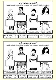 Me encanta escribir en español: El aspecto físico: ¿Cómo son?
