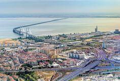 A ponte Vasco da Gama em todo o seu   esplendor...