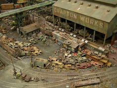 Model Railroad Yards | Here's some of model train layout. It's just one giant model #modeltrains